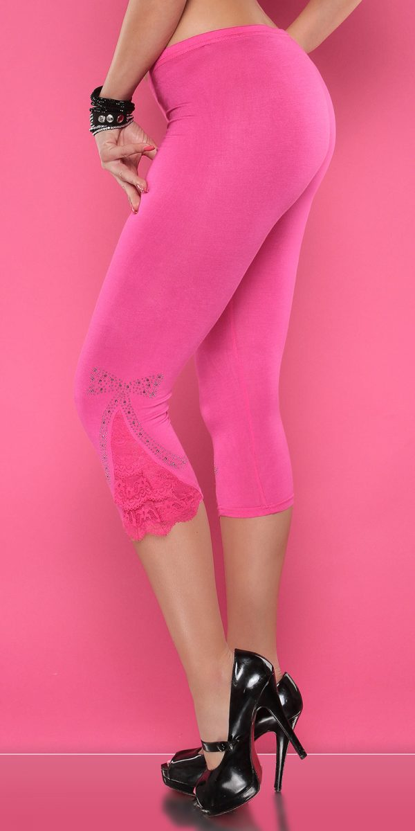 4434 Leggings with rhinestones and flounce Color FUCHSIA Size Onesize 0000LE1800 PINK 15