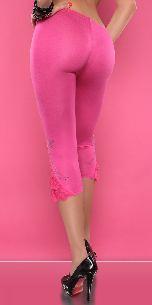 4434 Leggings with rhinestones and flounce Color FUCHSIA Size Onesize 0000LE1800 PINK 17 1