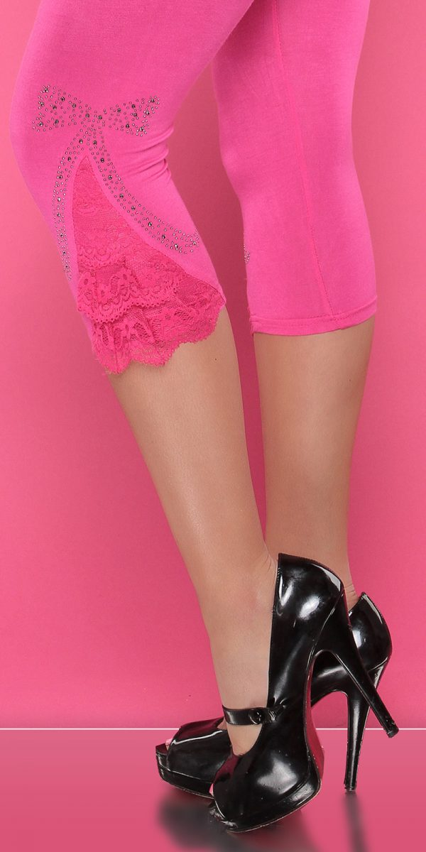 4434 Leggings with rhinestones and flounce Color FUCHSIA Size Onesize 0000LE1800 PINK 21 1