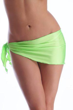 Plážová šatka bedrová hladká neónovo-zelená