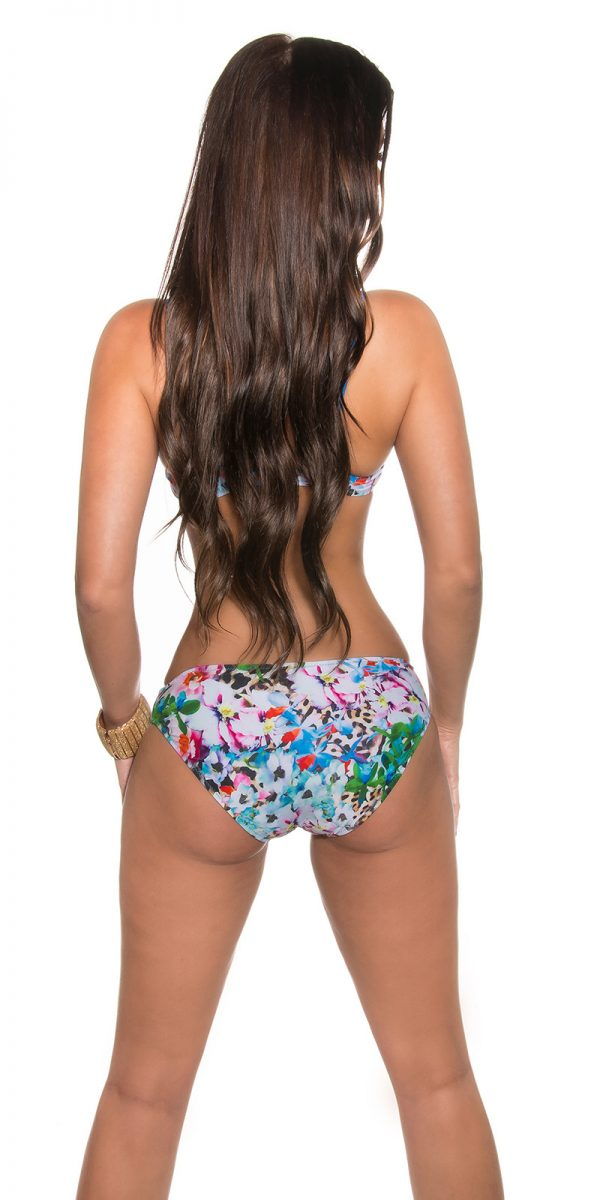 aaBalconet Bikini flower print remov Carrier Color TURQUOISE Size 40 0000L1700 TUERKIS 15