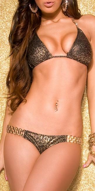 bikiniwithchainarhinest leopardie 136
