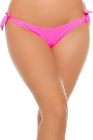 Brazílske nohavičky neónovo ružové