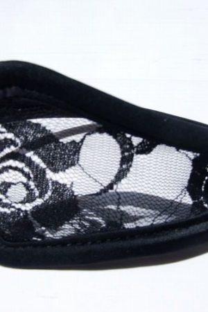 C nohavičky s čipkou čierne