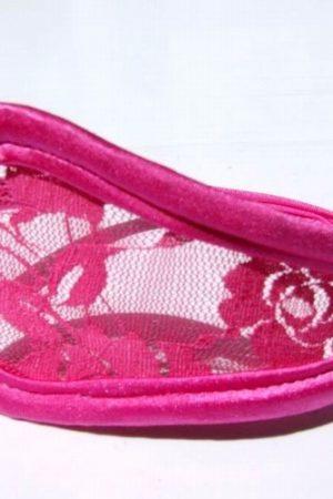 C nohavičky s čipkou ružové