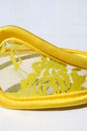 C nohavičky s čipkou žlté