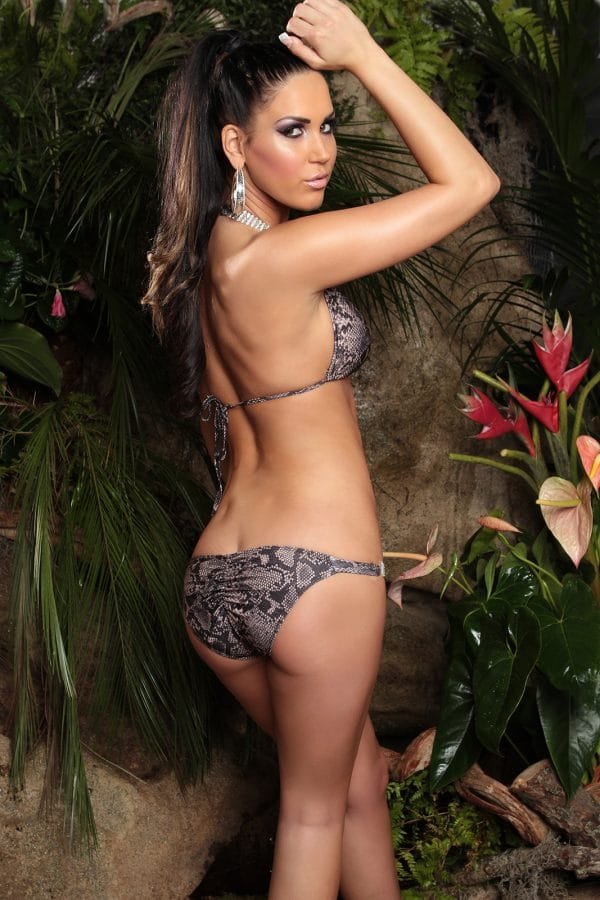 ccPcs Sexy Neck Bikinis with rhinestones Color SNAKE Size Lot 0000ISF18116 1 SNAKE 37 1