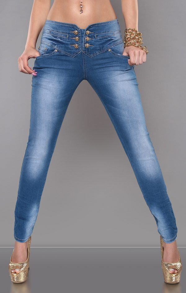 ccPcs Sexy Skinny Jeans in Used Look Color JEANSBLUE Size Lot 0000J7723 JEANSBLAU 10 1