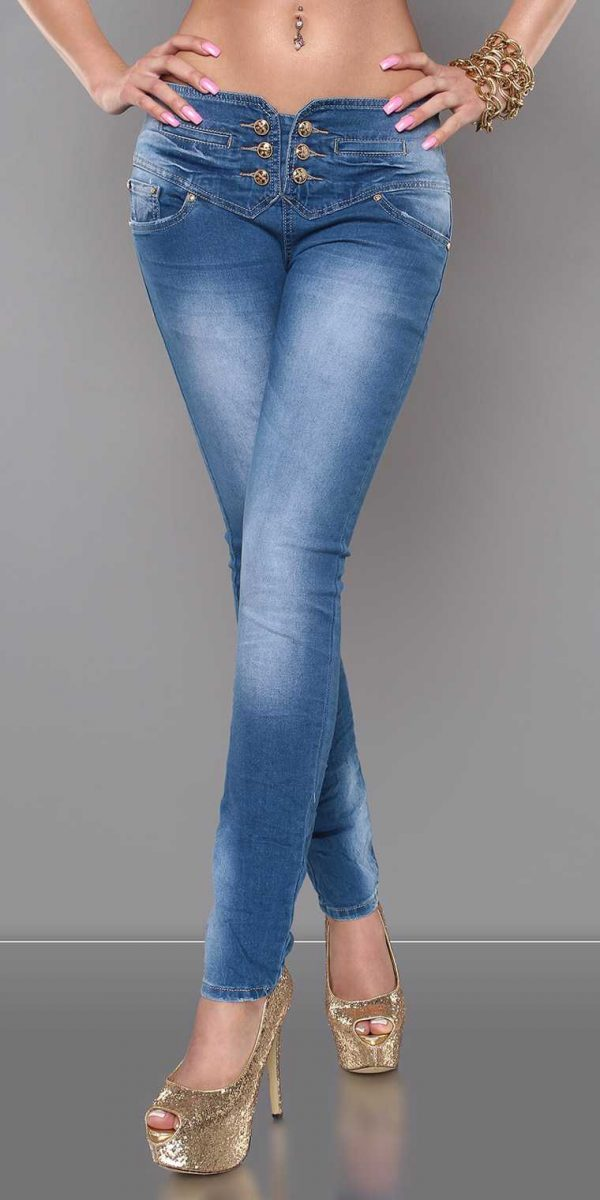 ccPcs Sexy Skinny Jeans in Used Look Color JEANSBLUE Size Lot 0000J7723 JEANSBLAU 1 1