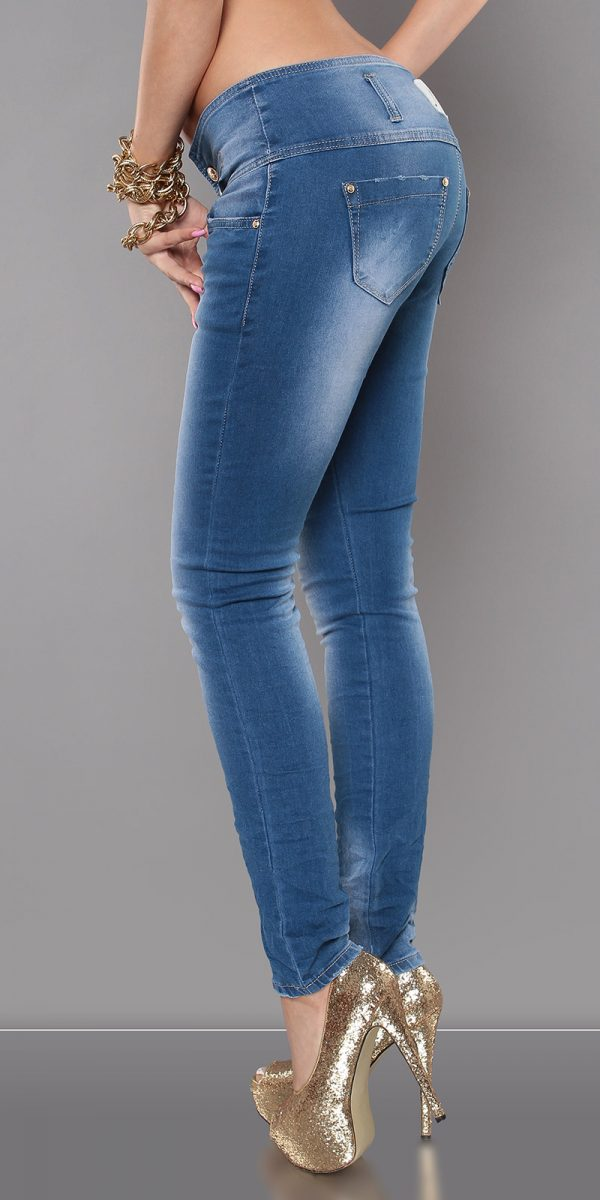 ccPcs Sexy Skinny Jeans in Used Look Color JEANSBLUE Size Lot 0000J7723 JEANSBLAU 6 1
