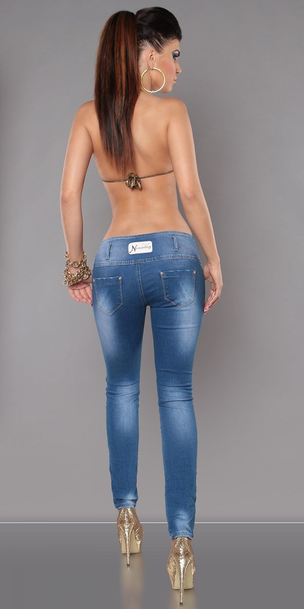 ccPcs Sexy Skinny Jeans in Used Look Color JEANSBLUE Size Lot 0000J7723 JEANSBLAU 7 1 1