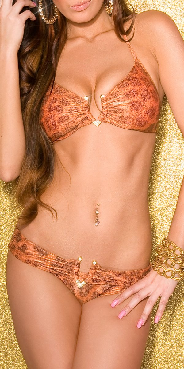 ccPcs Sexy bandeau neckh bikini with V buckle Color ORANGE Size Lot 0000ISF18134 ORANGE 24 1