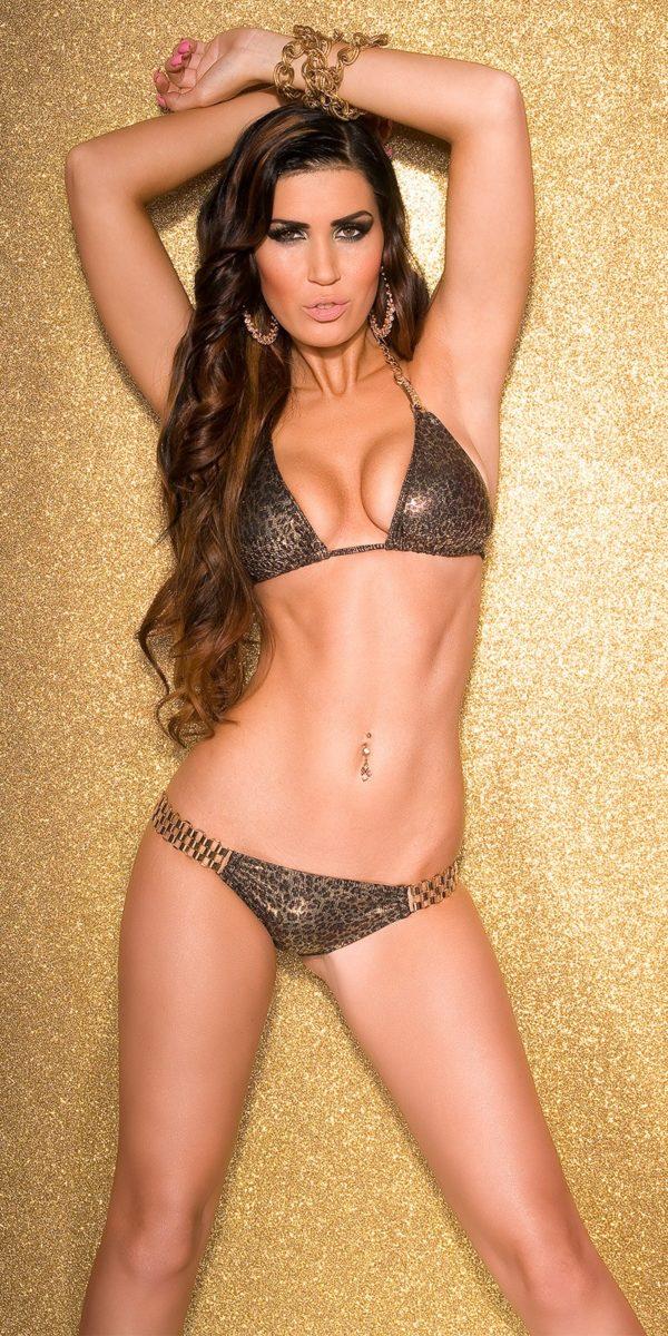 ccPcs Sexy triangle bikini with chain a rhinest Color LEO Size Lot 0000ISF18153 LEO 14 1 Copy