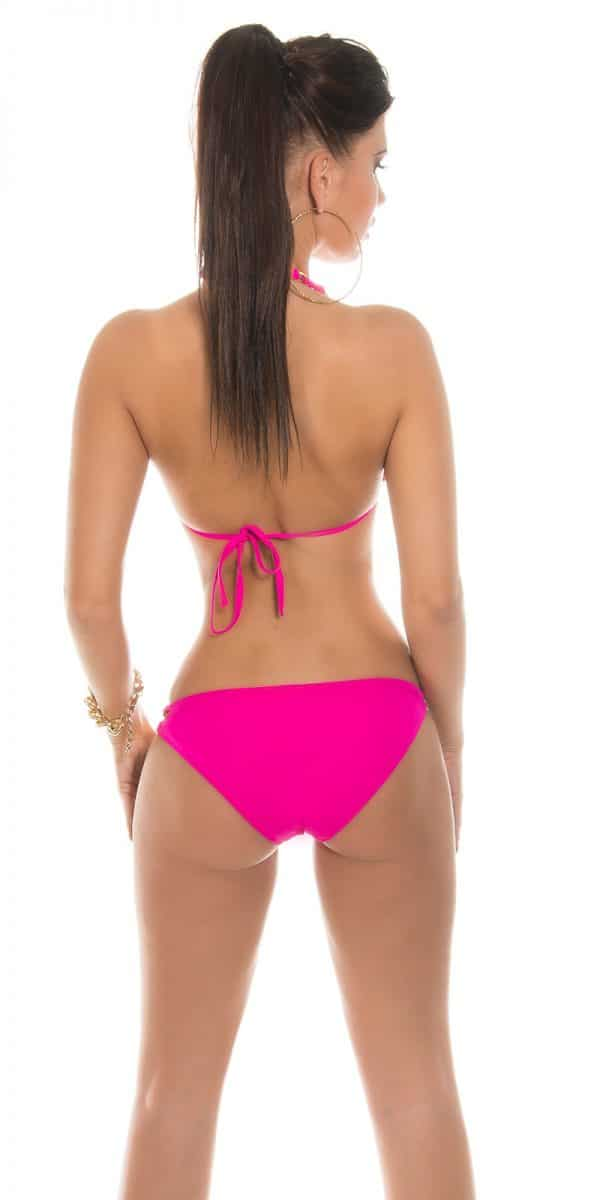 eeNeck Bikini with chains Color FUCHSIA Size L 0000IN50182 PINK 88