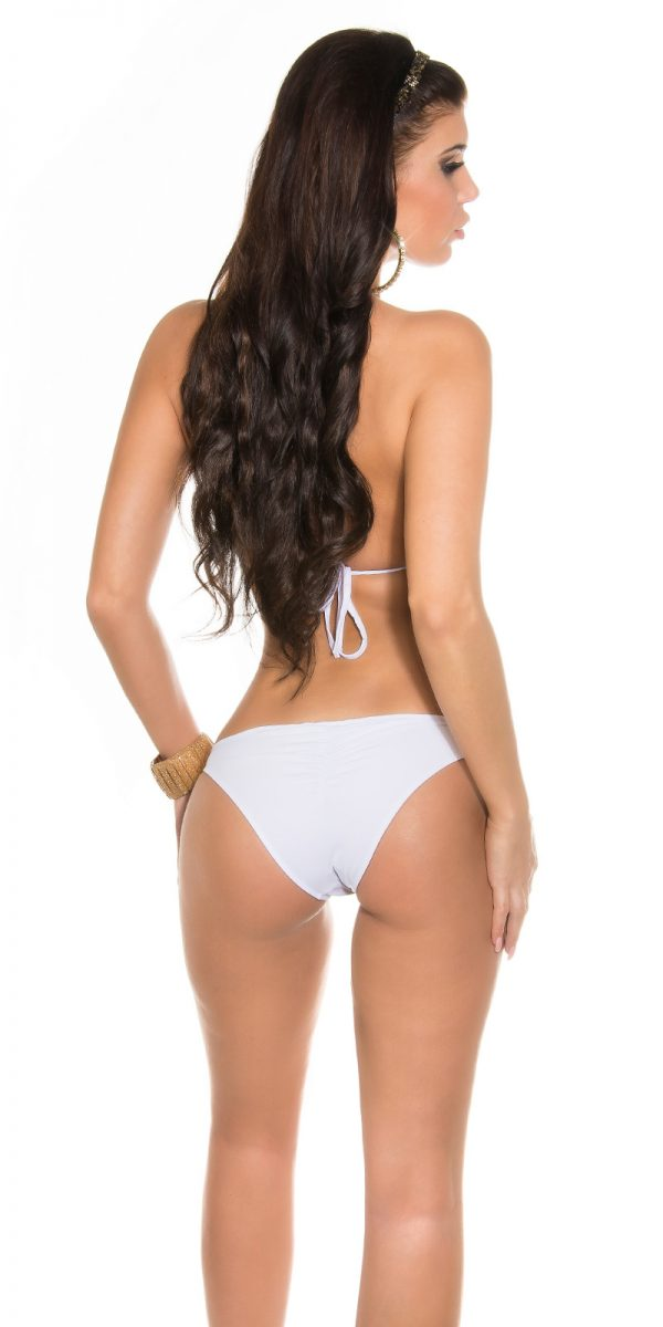 eeNeckholder Bikini with chainstraps Color WHITE Size L 0000B2149E WEISS 27