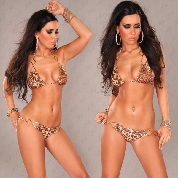 iiPieces Sexy Neckholder Bikini with chainstraps Color LEO Size Lot 0000B2149 LEO 4 1