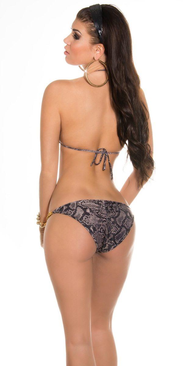 iiPieces Sexy Triangle Bikini in Animalprint Color SNAKE Size Lot 0000ISF18119L N SNAKE 42