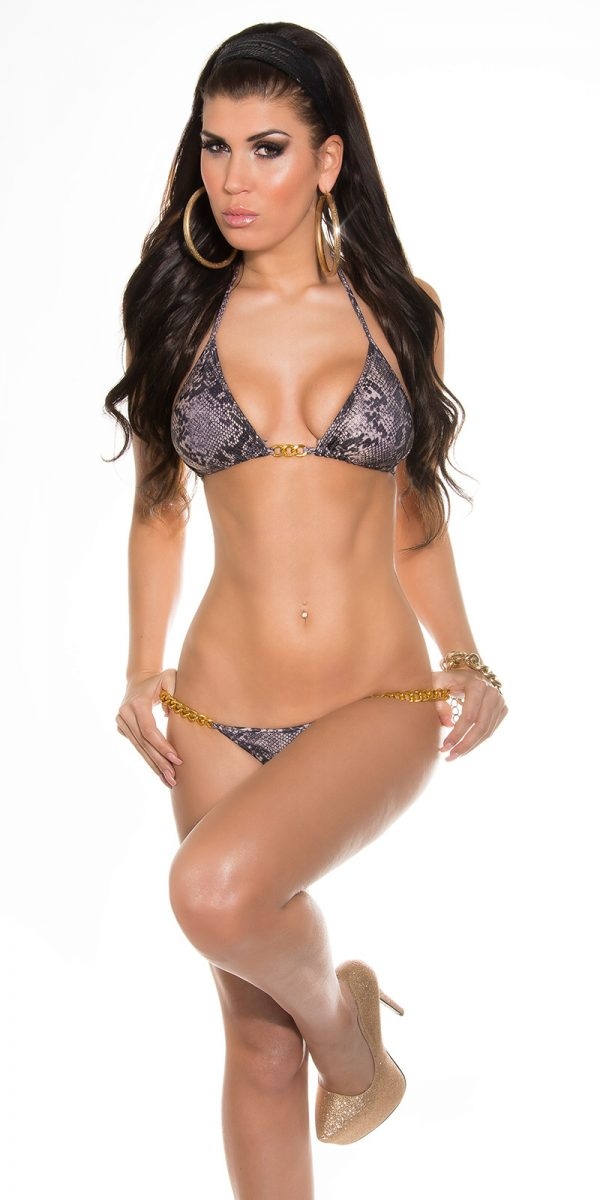 iiPieces Sexy Triangle Bikini in Animalprint Color SNAKE Size Lot 0000ISF18119L N SNAKE 48