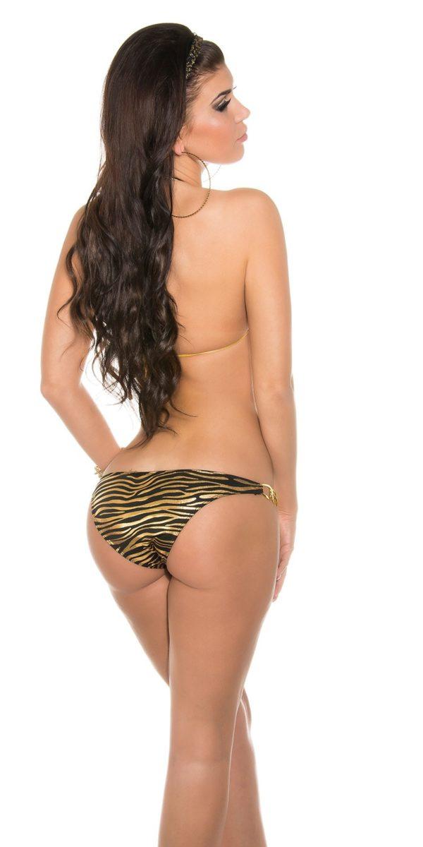 iiPieces Sexy Triangle Bikini to tie Color ZEBRABLACK Size Paket 0000B2145 N ZEBRASCHWARZ 10