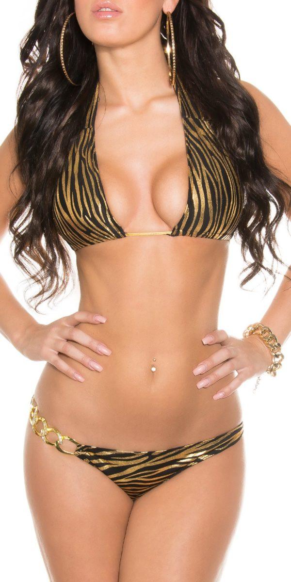 iiPieces Sexy Triangle Bikini to tie Color ZEBRABLACK Size Paket 0000B2145 N ZEBRASCHWARZ 9