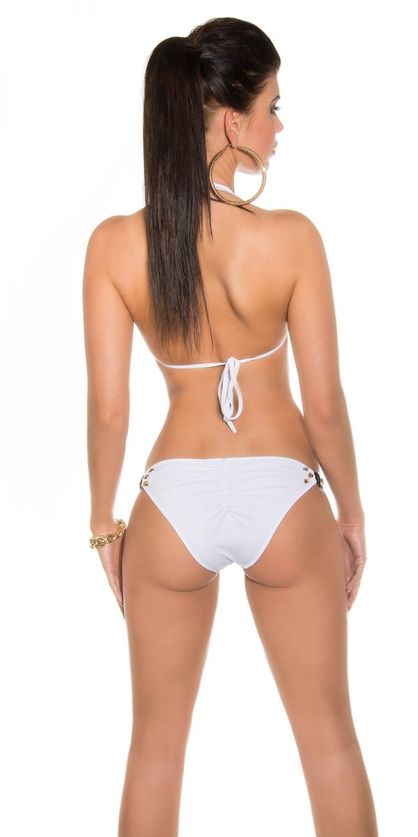 iipieces Sexy studded neck bikini Color WHITE Size Lot 0000ISF18131 N WEISS 28