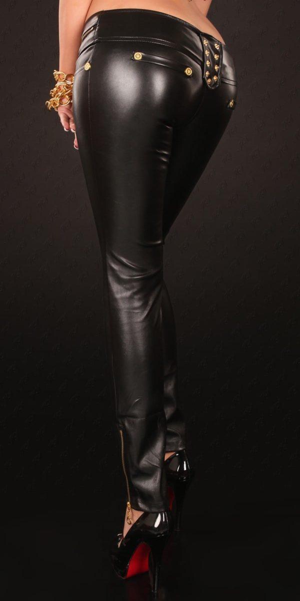 kkSkinnies in Leatherlook with Zip and buckle Color BLACK Size M 0000D70424 SCHWARZ 12 1