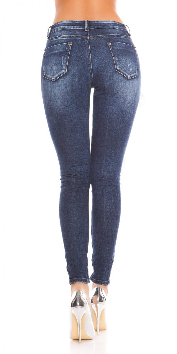 kkSkinny Jeans with Rivets and Embroidery Color JEANSBLUE Size 36 0000E1911 JEANSBLAU 2 1