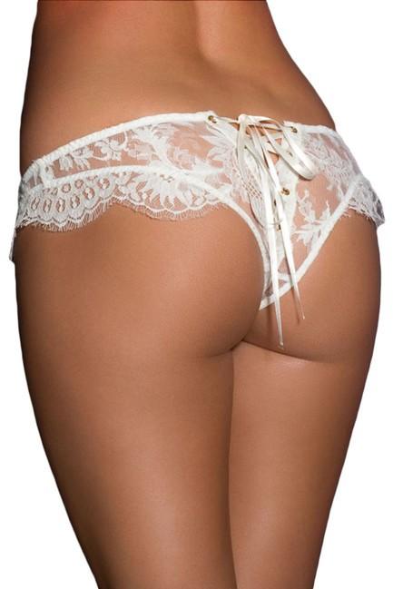 Nohavičky biela krajka so šnúrovačkou
