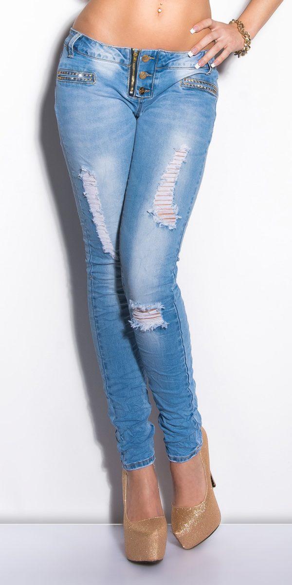 ooKouCla Skinnies with rhinestones Color JEANSBLUE Size 36 0000K600 134 JEANSBLAU 12 1