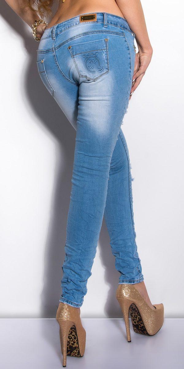 ooKouCla Skinnies with rhinestones Color JEANSBLUE Size 36 0000K600 134 JEANSBLAU 14 1