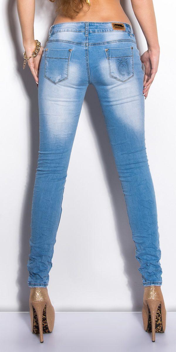 ooKouCla Skinnies with rhinestones Color JEANSBLUE Size 36 0000K600 134 JEANSBLAU 2 1