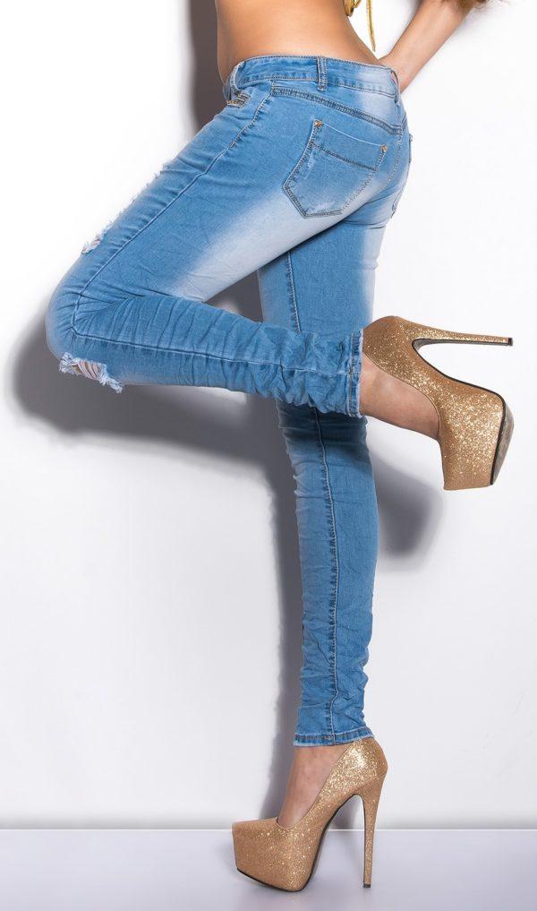 ooKouCla Skinnies with rhinestones Color JEANSBLUE Size 38 0000K600 134 JEANSBLAU 7 1