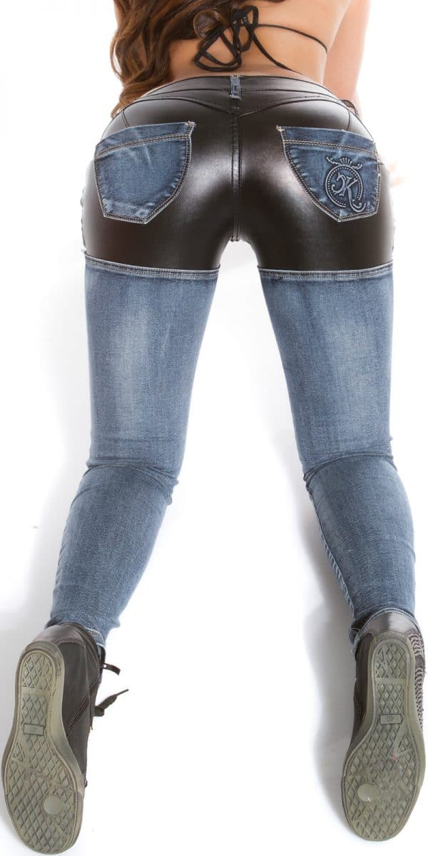 ooKouCla skinny jeans with leather look Color JEANSBLUE Size 36 0000K600 212 JEANSBLAU 16