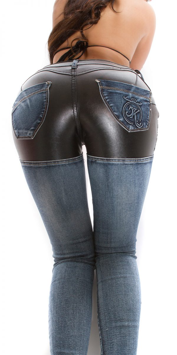 ooKouCla skinny jeans with leather look Color JEANSBLUE Size 36 0000K600 212 JEANSBLAU 29