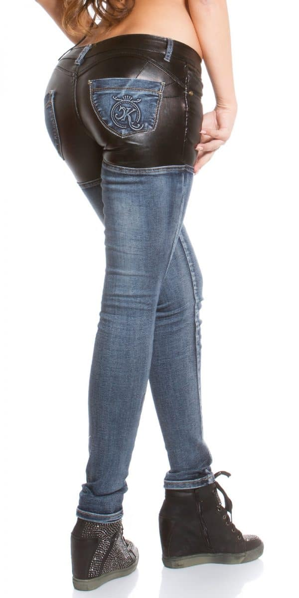 ooKouCla skinny jeans with leather look Color JEANSBLUE Size 36 0000K600 212 JEANSBLAU 3