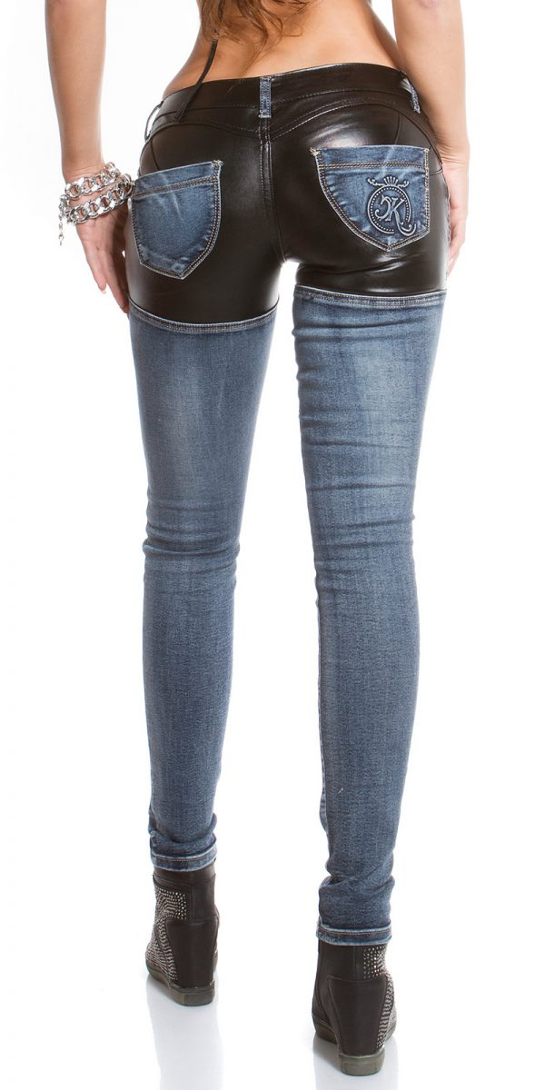 ooKouCla skinny jeans with leather look Color JEANSBLUE Size 38 0000K600 212 JEANSBLAU 6