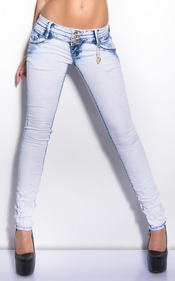 ooKouCla skinny with acid washing Color JEANSBLUE Size L 0000K 217 JEANSBLAU 5 2