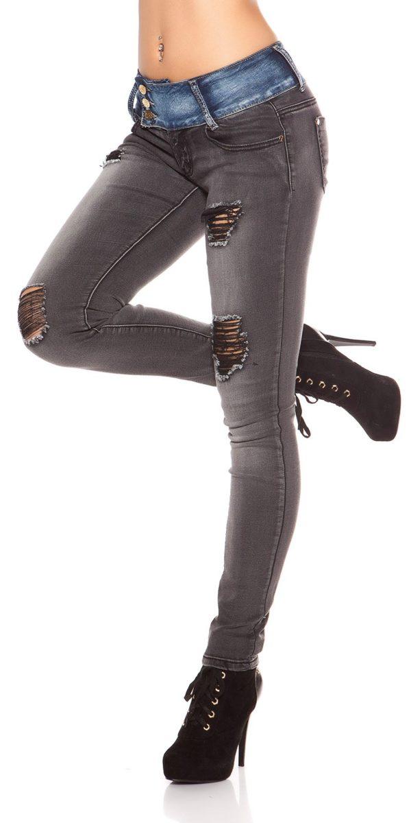 ooKoucla skinny jeans usedlook blueblack Color JEANSBLACK Size 36 0000K600 280 JEANSSCHWARZ 23