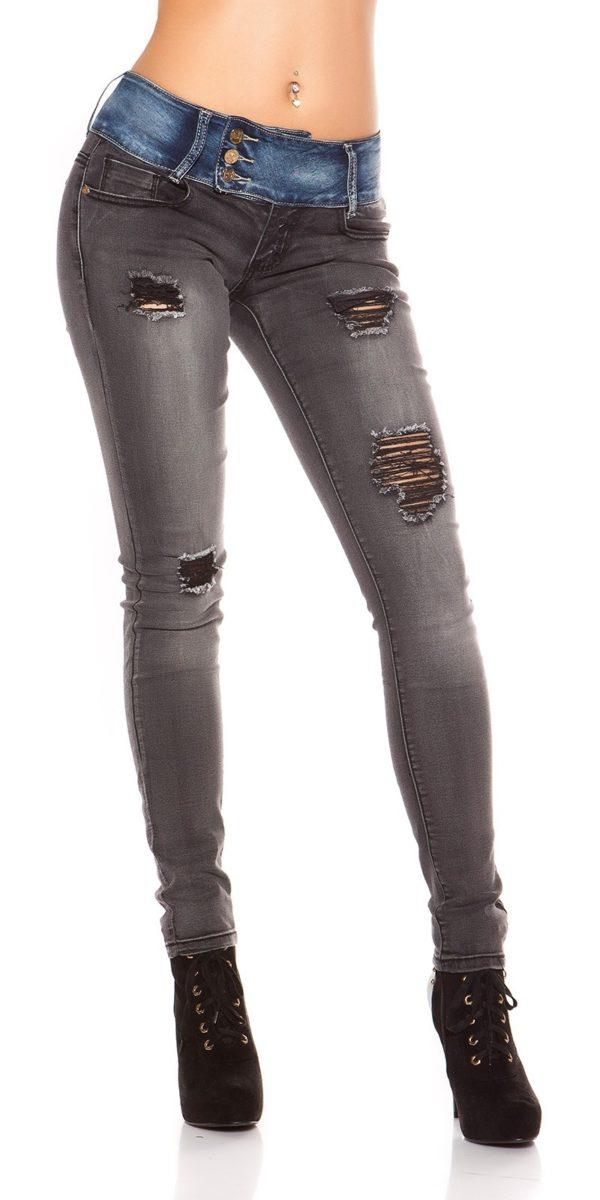 ooKoucla skinny jeans usedlook blueblack Color JEANSBLACK Size 36 0000K600 280 JEANSSCHWARZ 29