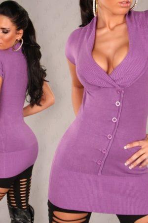 pulover s vystrihom kratky rukav fialovy 507