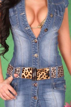 Riflové mini šaty na gombíky-S až XXL