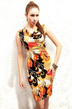 Šaty elegantné farebné