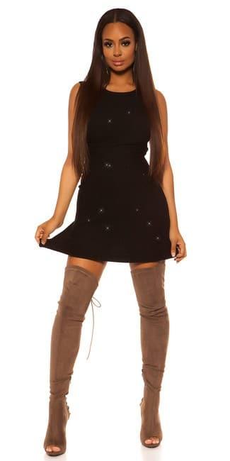 Šaty hladké ligotavé čierne
