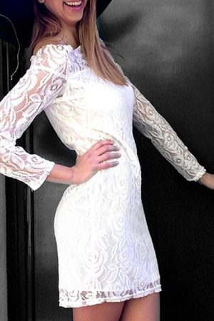 Šaty biele čipkované
