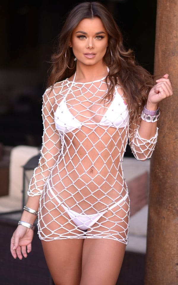white fishnet cover up scaled