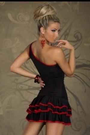 Šaty Samba s točivou sukňou čierne XXL