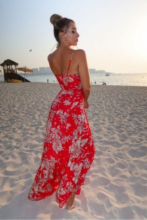 red floral tie waist tiered maxi dress p10112 1258194 medium