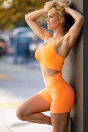 Fitness šortky HONEYPEACH oranžové