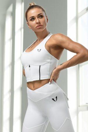 Športová podprsenka tvarovacia biela