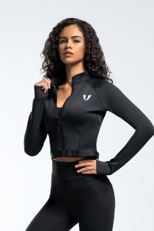 Dámska športová bunda čierna
